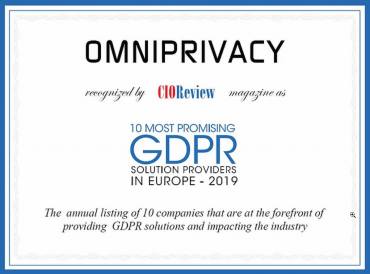 CIO Review gdpr solution top10 in Europe software