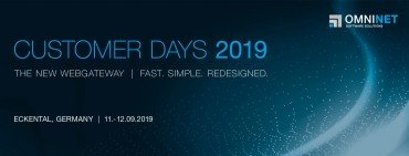 OMNINET Customer Days 2019 Banner The NEW WEBGATEWAY